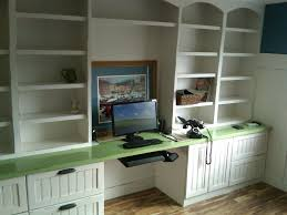 office desk shelves. Charming Bookcase With Built In Desk Ideas For Small Spaces White Shelves Green Office