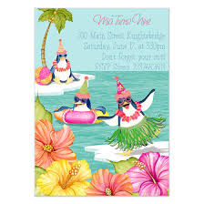 Tropical Party Invitations Tropical Party Penguins Invitations Cards On Pingg Com