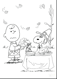 Peanuts Coloring Pages Charlie Brown Thanksgiving To Print Sheets