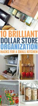 10 Smart Dollar Store Organization Hacks For Your Small Kitchen
