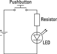 what you should know about circuit diagrams for arduinos dummies push button starter switch wiring diagram the first thing you may notice is that this example has no battery because your arduino has a 5v pin and a gnd pin, these take the place of the positive