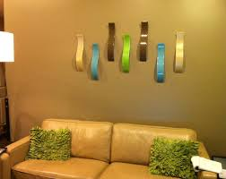 custom fused glass wall art sculpture waves set of 5