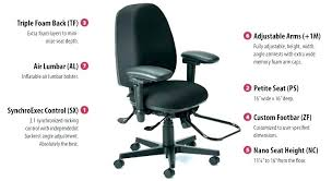 triple seated home office area. Office Chairs For Short People Memory Foam Seat Cushion Triple Seated Home Area R