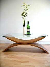 glass wood coffee table setodern extra large