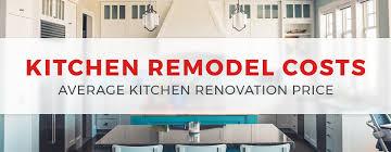 2019 kitchen remodel costs average kitchen renovation
