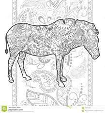 Zentangle Adulto Animal Dibujado Mano De La P Gina Del Colorante Del