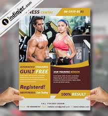Free Gym Flyer Template Psd Bundle - Indiater