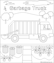 Small Picture Garbage Truck coloring page EnchantedLearningcom