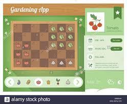 Garden Planner App With Vegetables Nutrition Sheet Rectangular