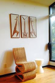 Mad Men Cat Giraffe Mid Century Modern Eames Era Triptych Art In Mad Men Wall  Art