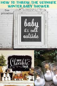 Winter & Christmas Baby Shower Ideas with free printable holiday decor!