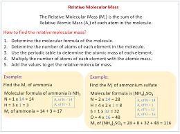 Relative Molecular Mass & Relative Formula Mass (solutions ...