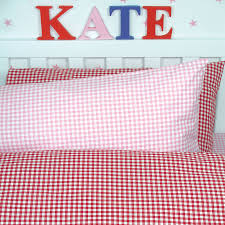 gingham duvet cover and pillowcase