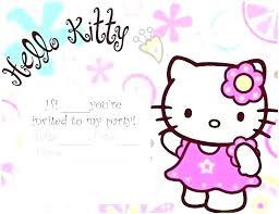Hello Kitty Printable Party Invitations Guluca