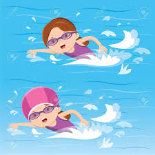 girl swimming clipart.  Girl 73855353 Girl Swimming In The Pool Within Clipart Of A And