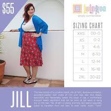 Classic Lularoe Size Chart Lularoe Jill Sizing Chart And Price In 2019 Lularoe Sizing