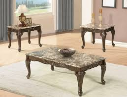 coffee table set with carved legs zoom
