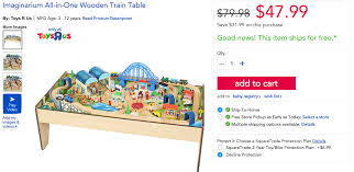 imaginarium 100 piece all in one wooden train table for