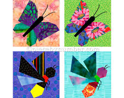 Butterfly & Firefly quilt block patterns paper pieced quilt & 🔎zoom Adamdwight.com
