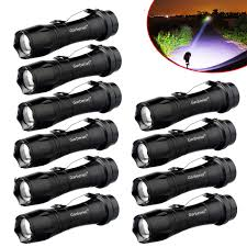 Police Tactical Light Details About 10pcs 20000lumens 14500 Aa Police Tactical Zoomable Led Flashlight Torch Light