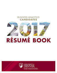 Business Analytics Resume Book By Daniels College Of Business Issuu