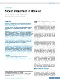 Nocebo Phenomena In Medicine 29062012