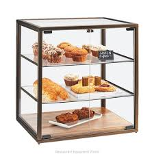 cal mil plastics 3610 display case pastry countertop clear magnified