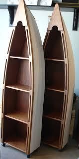 57 canoe bookcase furniture reclaimed wood 74 boat