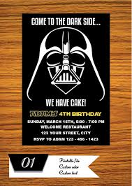 Star Wars Birthday Invitations Printable Star Wars Invitation Star Wars Party Invitation Star Wars