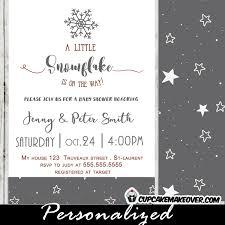 Snowflake Baby Shower Invitations Snowflake Baby Shower Invitations Elegant Winter Grey Cupcakemakeover