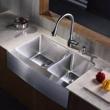 photo 6 of 8 kraus khf20333kpf2130sd20 33 inch stainless steel 70 30 double bowl a kitchen sink with 16