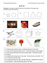 Following Directions – Worksheets, Activities, Goals, and More ...