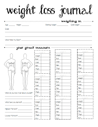 Printable Weight Loss Journals Room Surf Com
