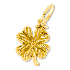 clover charm 14k yellow gold tap to expand