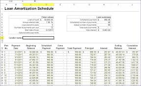 Microsoft Excel Loan Amortization Template Excel Loan Amortization