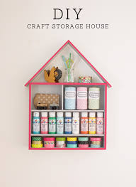 diy craft storage house at home in love