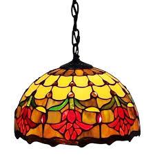 amora lighting tiffany style tulips hanging lamp