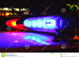 Download Police Lights Police Lights By Night Stock Photo Image Of Black White
