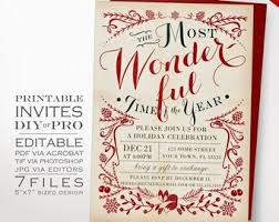holiday party invitation template invitation template etsy