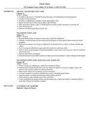 Transportation Aide Resume Samples Velvet Jobs