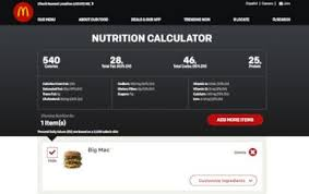 photo nutritional information for a big mac sandwich is displa on the mcdonalds restaurant