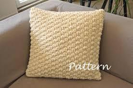 Crochet Pillow Patterns Enchanting CROCHET PATTERN Chunky Cabled Pillow Pattern Crochet Pillow Etsy