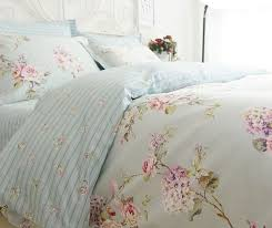 blue duvet quilt cover bedding set queen french country cottage