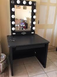 black vanity mirror with lights. 3 drawers antique vanity black mirror with lights