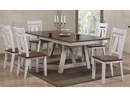 Winslow 7 Piece Two Tone Refectory Table Set Miskelly Furniture