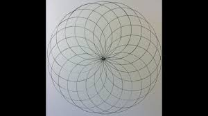 How To Draw A Geometrical Chart How To Draw A Spiral Circle Grid