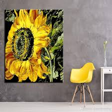 2018 diy oil painting calligraphy by number sunflower canvas pictures home wall art decor drawing coloring handpainted unique gifts from framedpainting  on diy sunflower wall art with 2018 diy oil painting calligraphy by number sunflower canvas