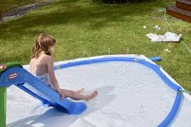 diy splash pad with slide