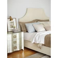 Silver Leaf Bedroom Furniture Oriana Modern Classic Antique Silver Leaf 3 Drawer Nightstand
