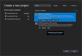Aspx Templates Free Download Create An Asp Net Core Web App In C Visual Studio